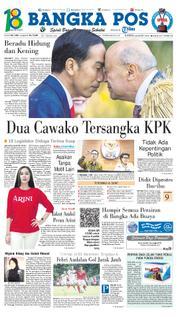Cover Bangka Pos 22 Maret 2018