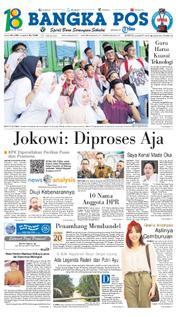 Cover Bangka Pos 24 Maret 2018