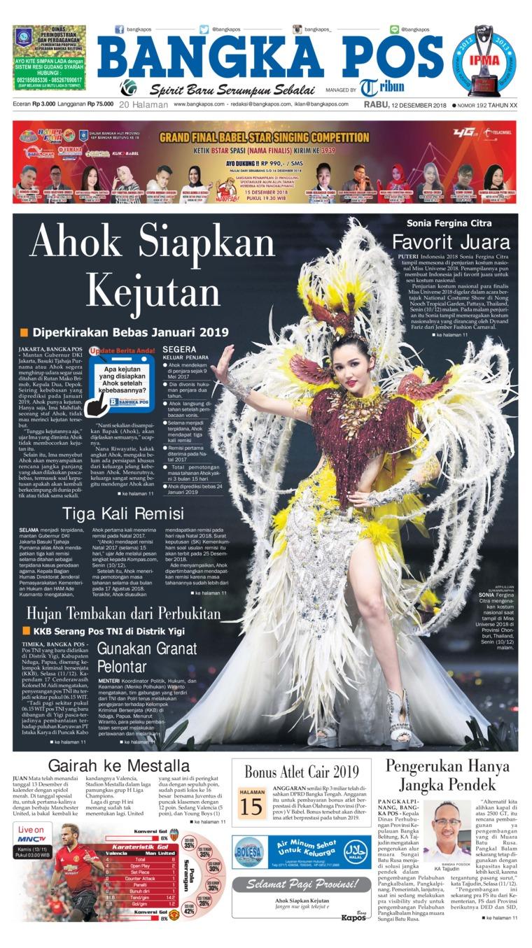 Koran Digital Bangka Pos 12 Desember 2018