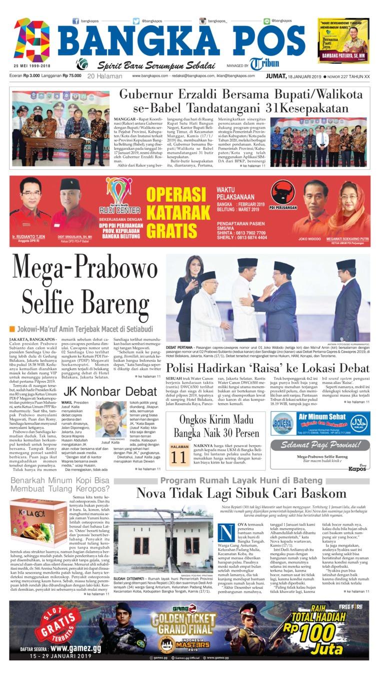 Koran Digital Bangka Pos 18 Januari 2019