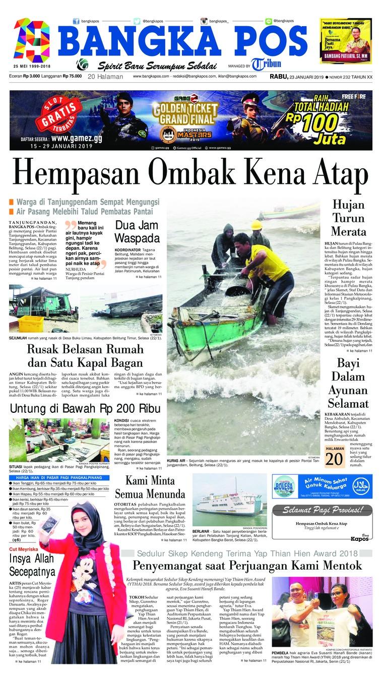 Koran Digital Bangka Pos 23 Januari 2019