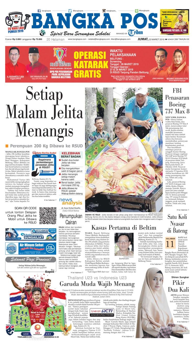 Koran Digital Bangka Pos 22 Maret 2019