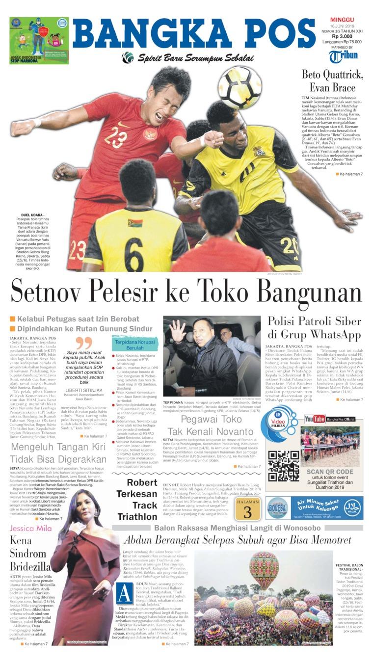 Koran Digital Bangka Pos 16 Juni 2019