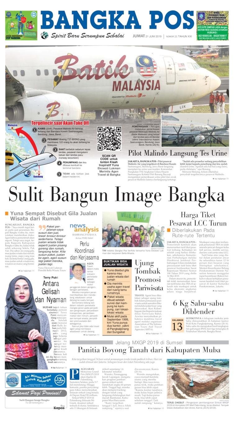 Bangka Pos Digital Newspaper 21 June 2019