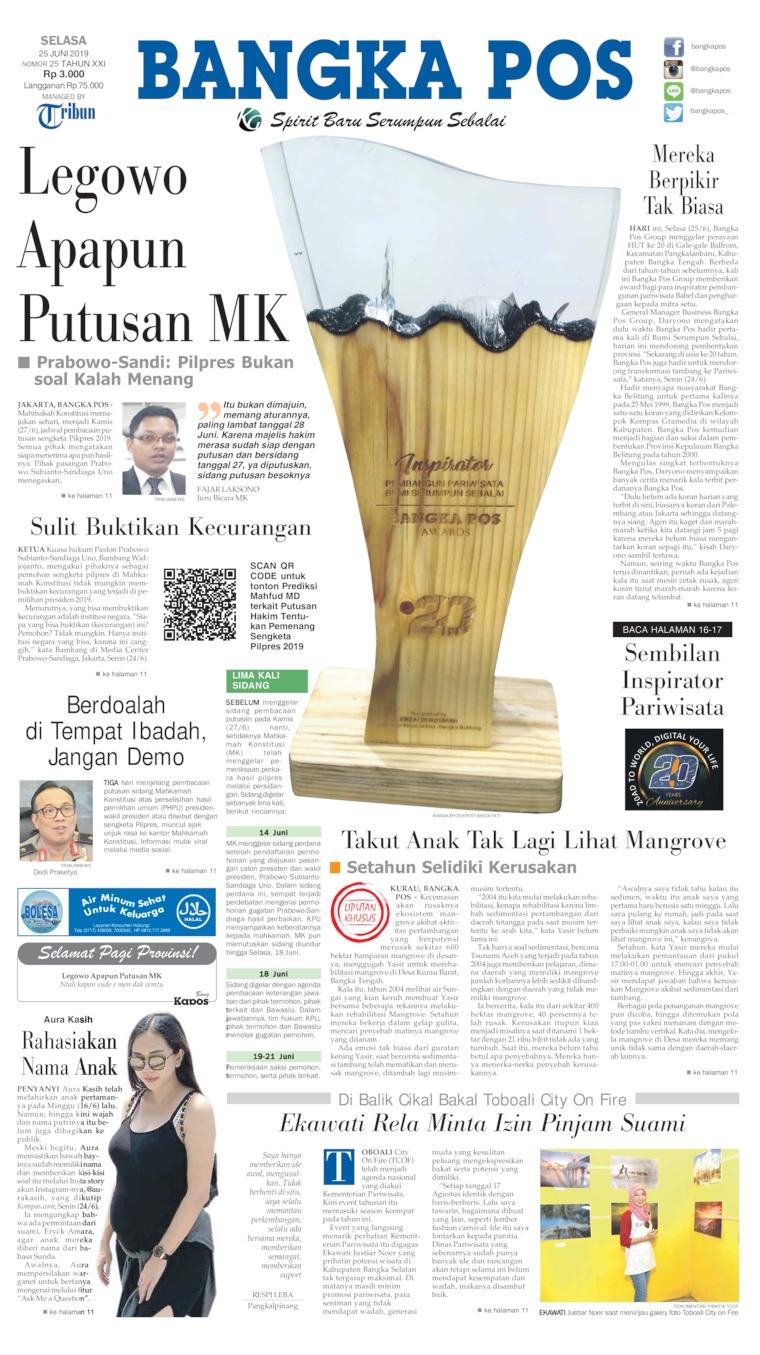 Koran Digital Bangka Pos 25 Juni 2019