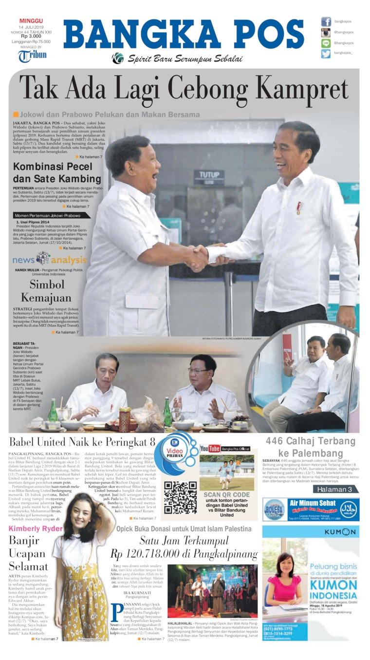 Koran Digital Bangka Pos 14 Juli 2019