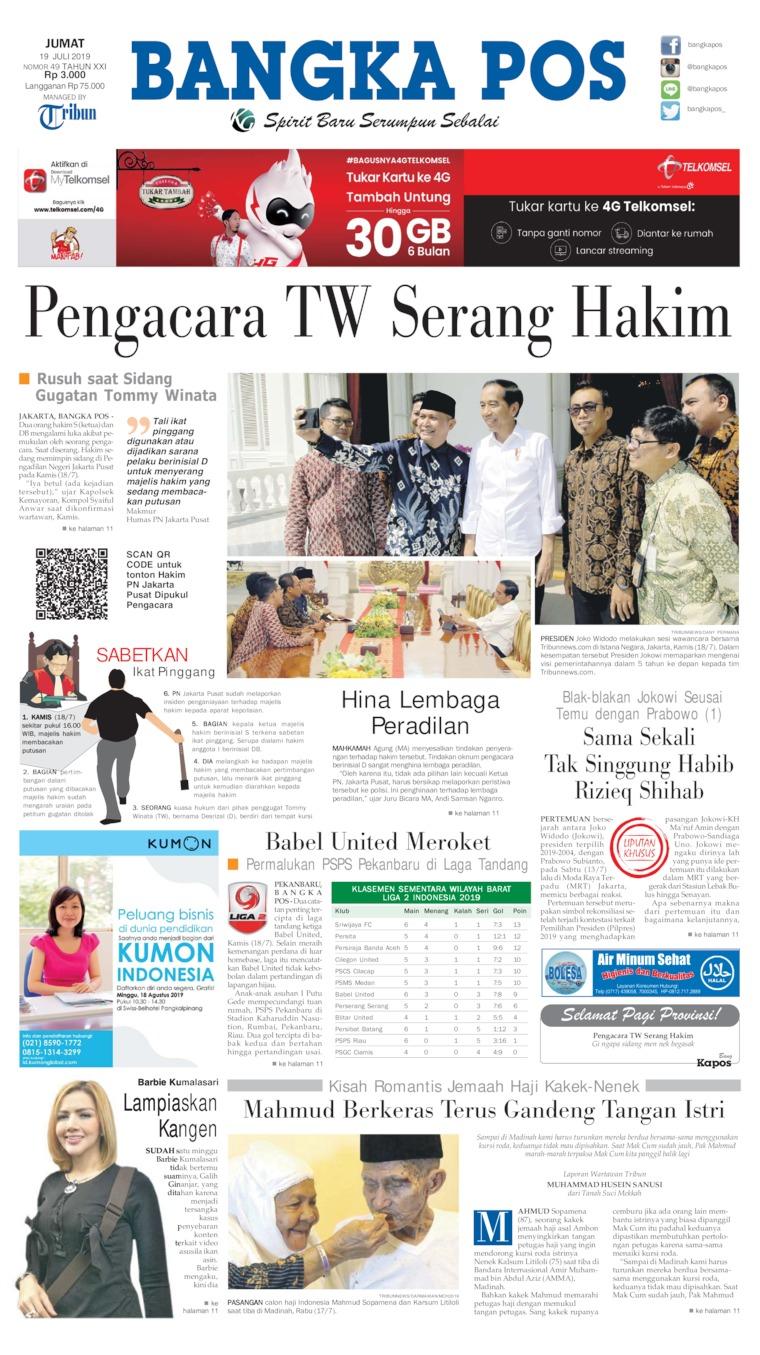 Koran Digital Bangka Pos 19 Juli 2019