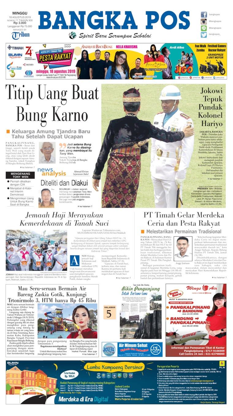 Koran Digital Bangka Pos 18 Agustus 2019