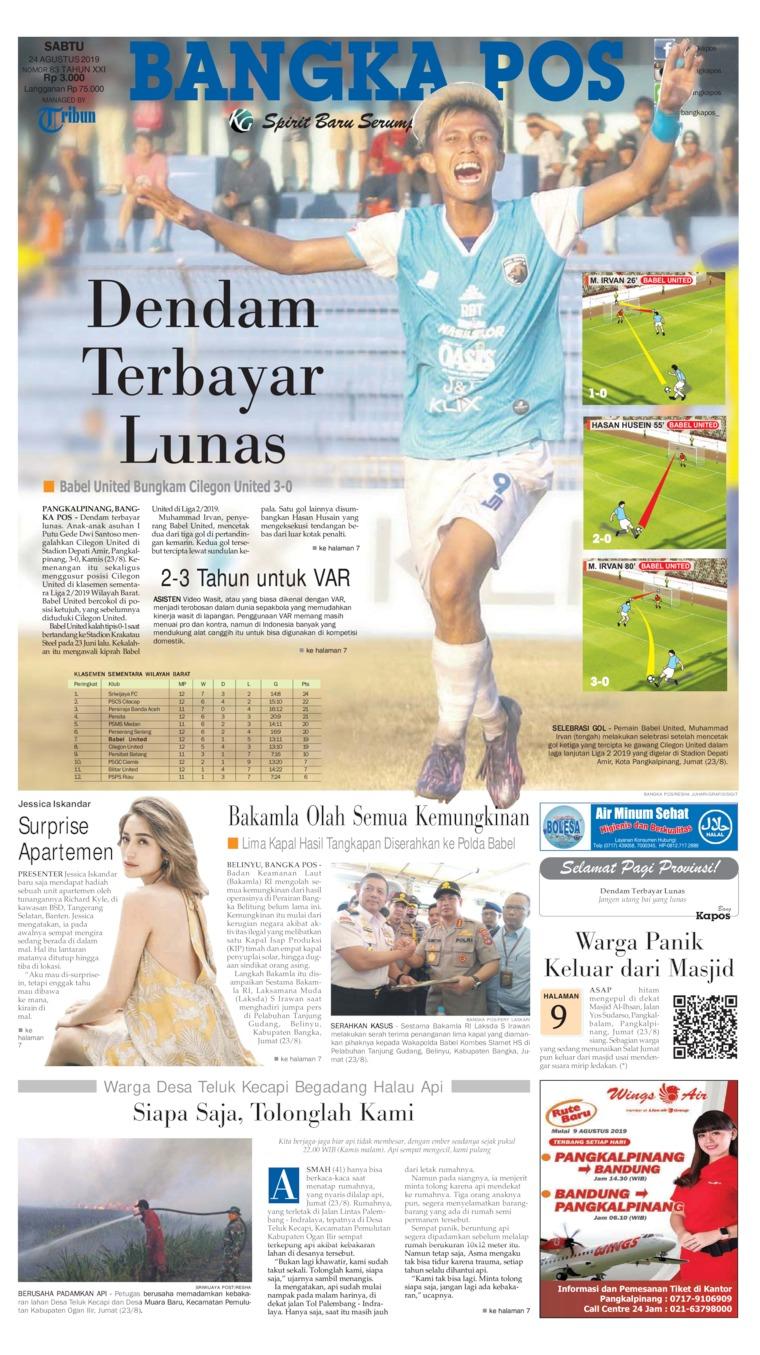 Koran Digital Bangka Pos 24 Agustus 2019