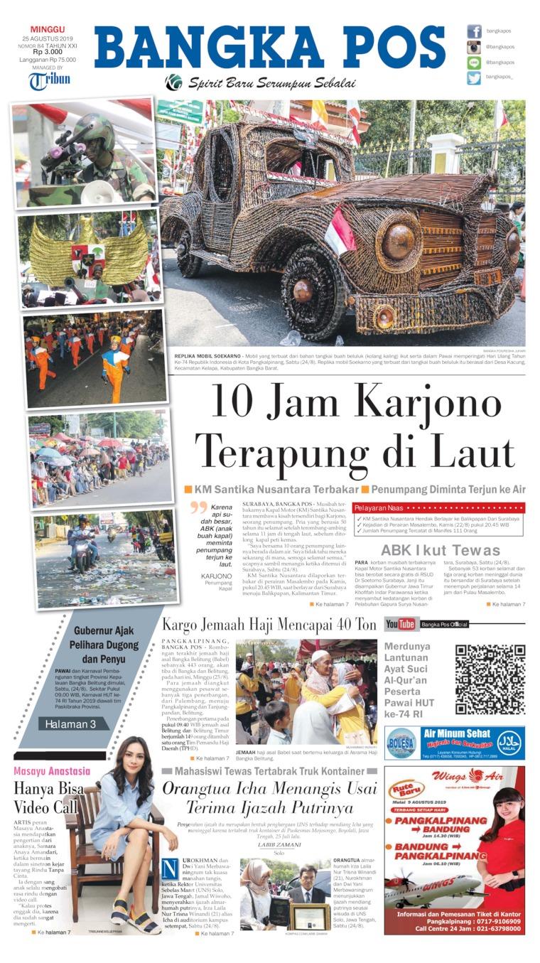 Koran Digital Bangka Pos 25 Agustus 2019