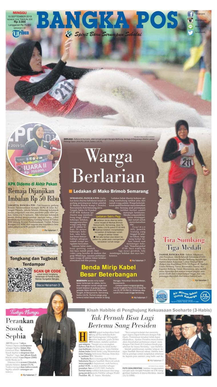 Koran Digital Bangka Pos 15 September 2019