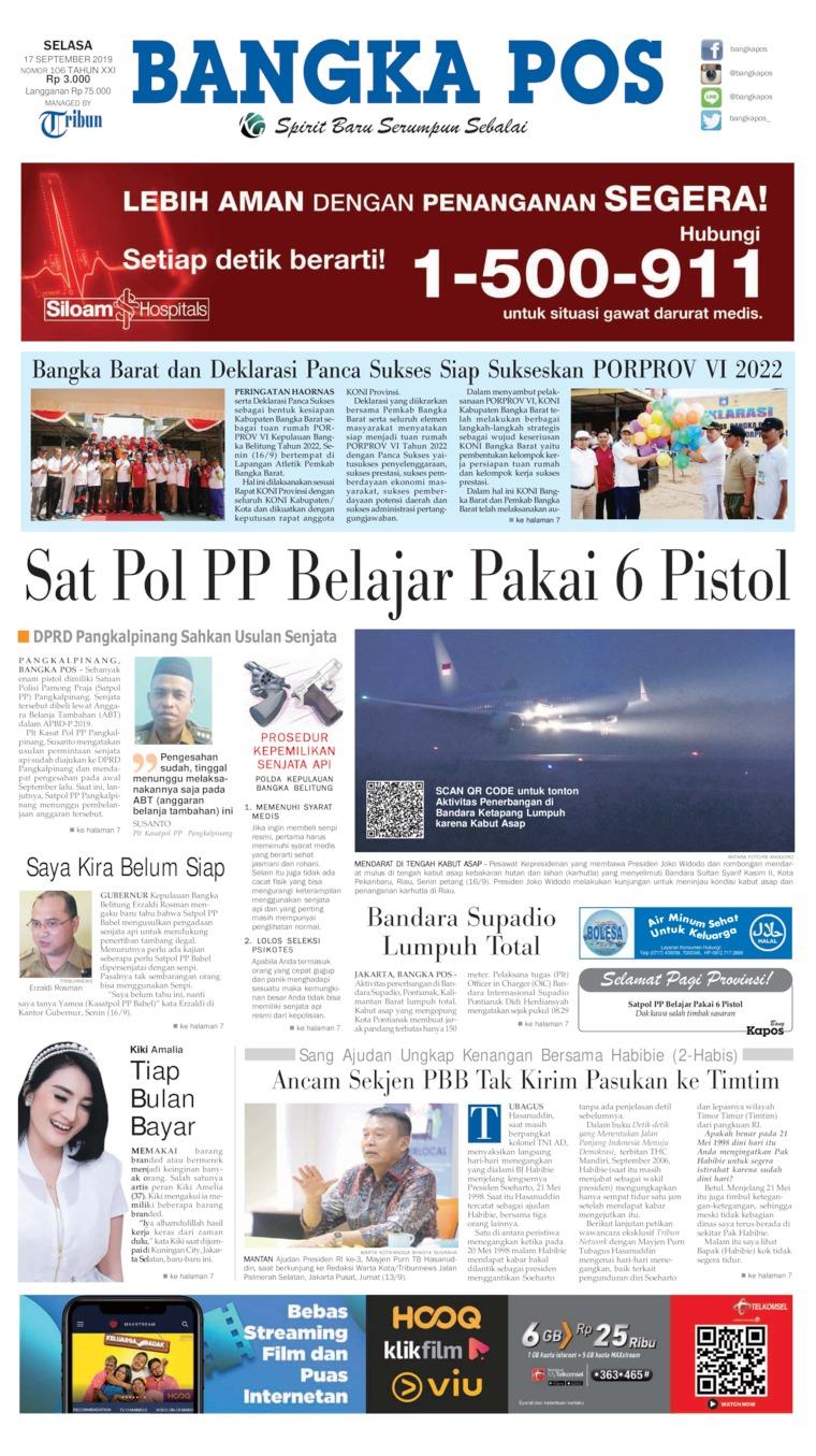 Bangka Pos Digital Newspaper 17 September 2019