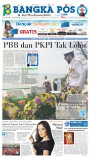 Cover Bangka Pos 18 Februari 2018