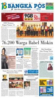 Cover Bangka Pos 19 Februari 2018