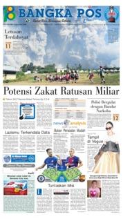 Cover Bangka Pos 20 Februari 2018