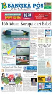 Cover Bangka Pos 21 Februari 2018