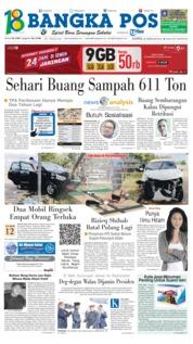 Cover Bangka Pos 22 Februari 2018