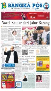 Bangka Pos Cover 23 February 2018