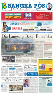 Bangka Pos Cover 25 February 2018