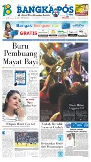 Cover Bangka Pos 15 April 2018