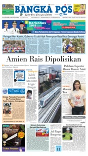 Cover Bangka Pos 16 April 2018
