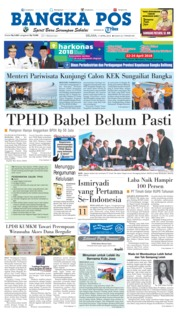 Cover Bangka Pos 17 April 2018