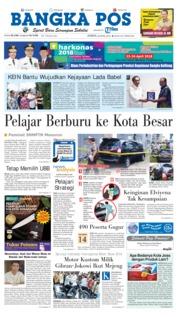 Cover Bangka Pos 20 April 2018