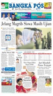 Cover Bangka Pos 24 April 2018