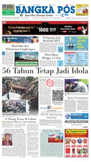 Cover Bangka Pos 21 Mei 2018