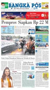 Cover Bangka Pos 22 Mei 2018