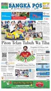 Cover Bangka Pos 19 Juni 2018