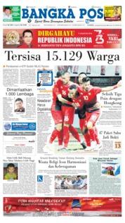 Cover Bangka Pos 16 Agustus 2018