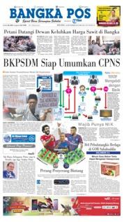 Cover Bangka Pos 18 September 2018