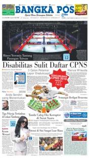 Cover Bangka Pos 19 September 2018