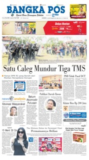 Cover Bangka Pos 21 September 2018