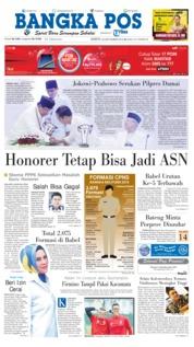 Cover Bangka Pos 22 September 2018
