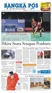 Cover Bangka Pos 23 September 2018