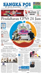 Cover Bangka Pos 26 September 2018