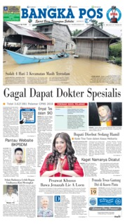 Cover Bangka Pos 17 Oktober 2018