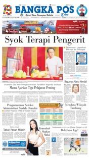 Cover Bangka Pos 18 Oktober 2018