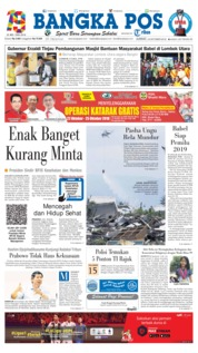 Cover Bangka Pos 19 Oktober 2018
