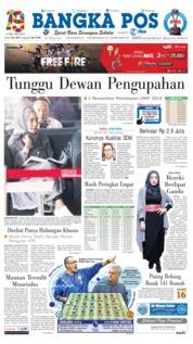 Cover Bangka Pos 20 Oktober 2018