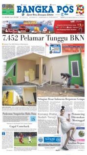 Cover Bangka Pos 22 Oktober 2018