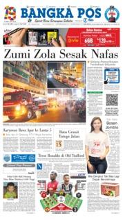 Cover Bangka Pos 23 Oktober 2018