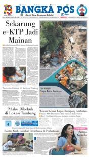 Cover Bangka Pos 09 Desember 2018
