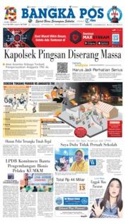 Cover Bangka Pos 13 Desember 2018