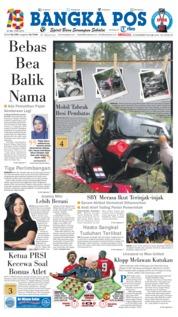 Cover Bangka Pos 16 Desember 2018