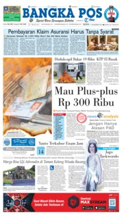 Bangka Pos Cover 17 December 2018