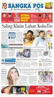 Cover Bangka Pos 16 Januari 2019
