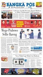 Cover Bangka Pos 18 Januari 2019